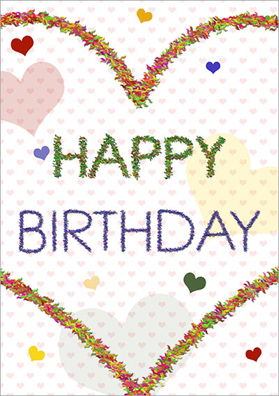Fuzzy Heart Birthday Card 027