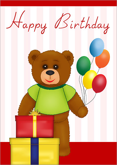 Teddy Bear Birthday Presents  028