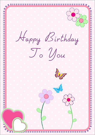 Spring Happy Birthday Card 035