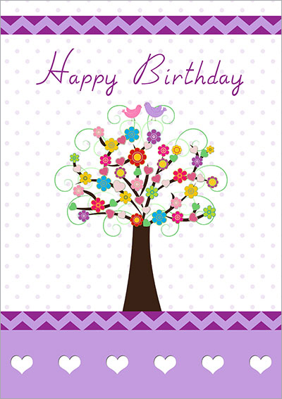 Free printable birthday cards love happiness tree card 039 bookmarktalkfo Images