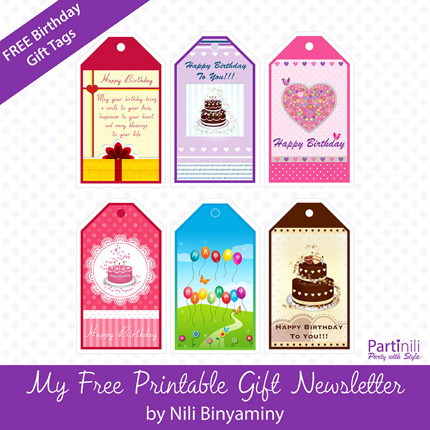 Printable gift tags free printable birthday gift tags negle Images