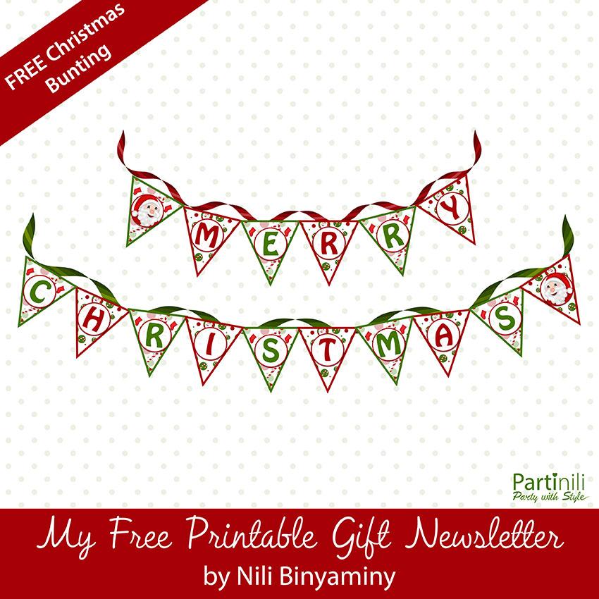 Printable Merry Christmas Bunting