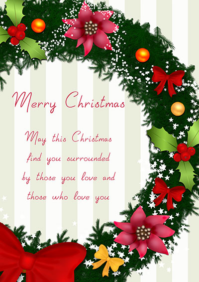 Christmas Wreath Wish Card 002