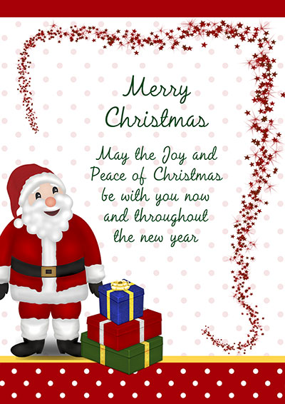 Printable christmas cards santa presents christmas card 003 santa presents christmas card m4hsunfo