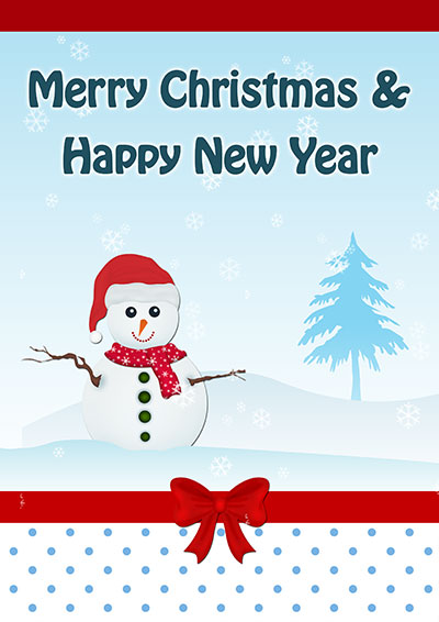 Snowman On Christmas  Card 009