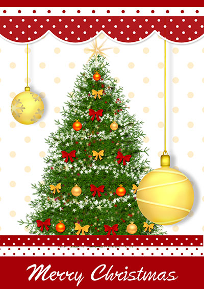 Merry Christmas Tree Card 016