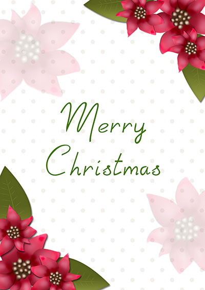 Christmas Flowers Greeting Card 017