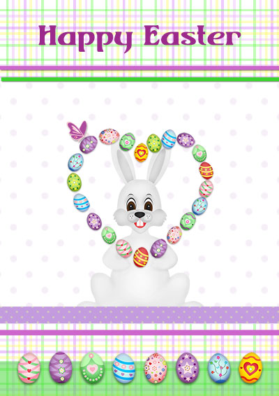 Easter Bunny Juggle Card  Free Printable Religious Easter Cards