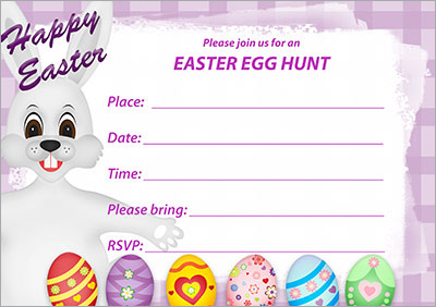 Bunny Hugs Egg Hunt Invitation 003