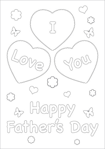 I Love You Fathers Day Color Card