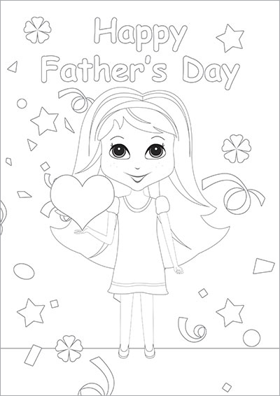 Happy Father's Day Girl Card 004