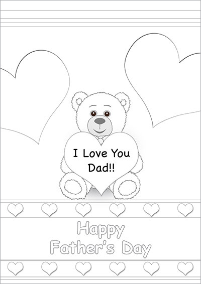I Love You Dad Teddy Bear 006