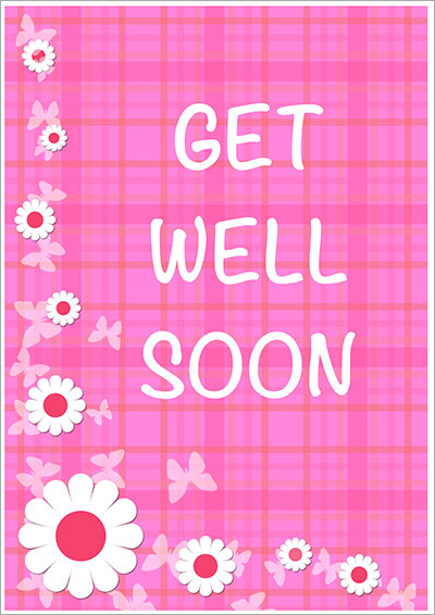 Effortless image pertaining to printable get well card