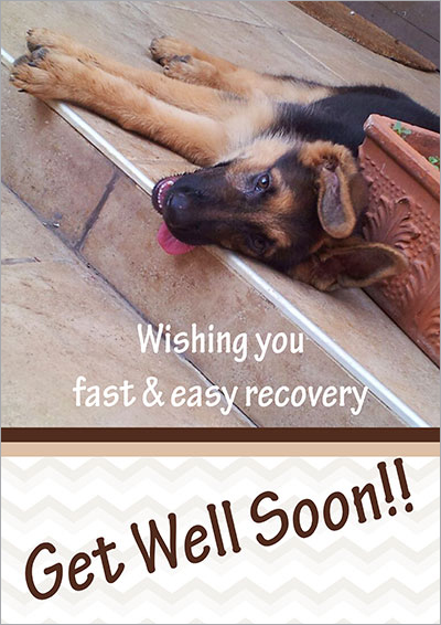 Fast & easy recovery printable card 005