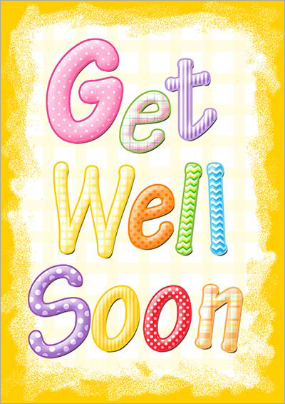 Breathtaking image inside printable get well card