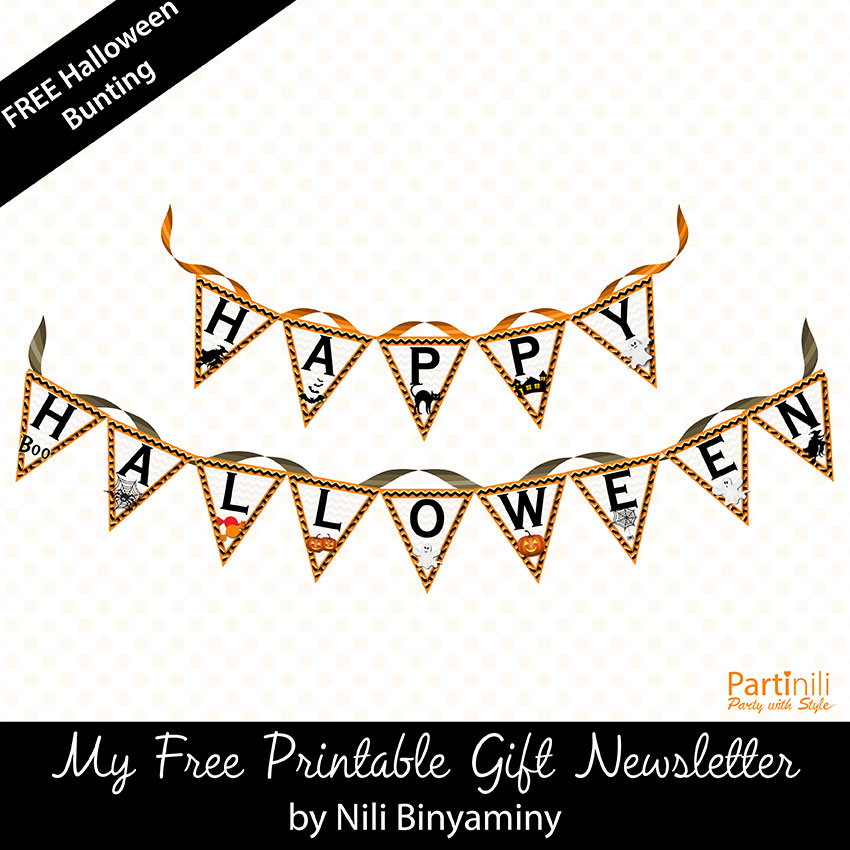 FREE Printable Happy Halloween bunting