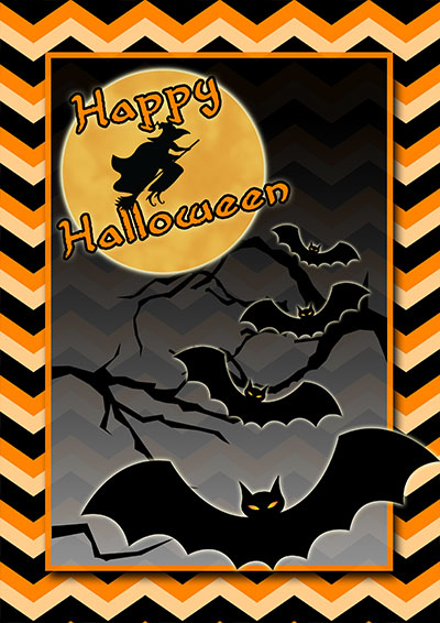 Spooky Halloween Greeting Card 002