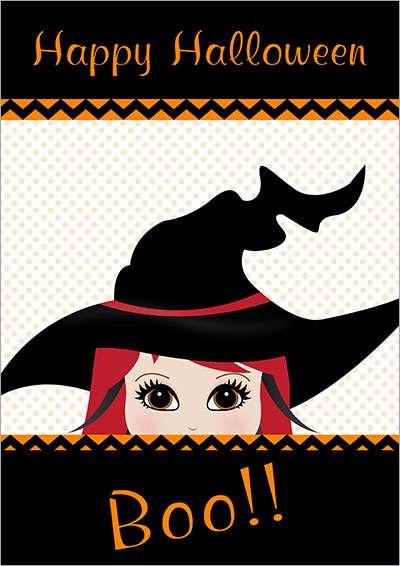 Halloween Boo! Printable Card 007