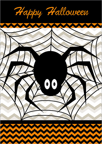 Happy Halloween Spider Card 009