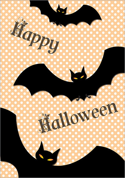 Halloween Bats Printable Card 010