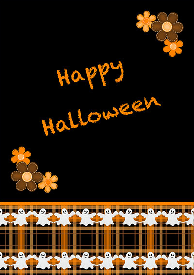 Halloween Dancing Ghosts Card 012