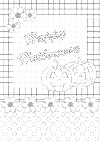 Happy Halloween Color Card 001