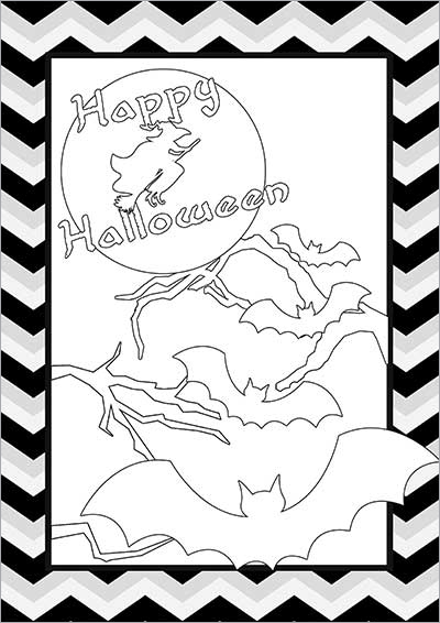 Spooky Halloween Night Color Card 002