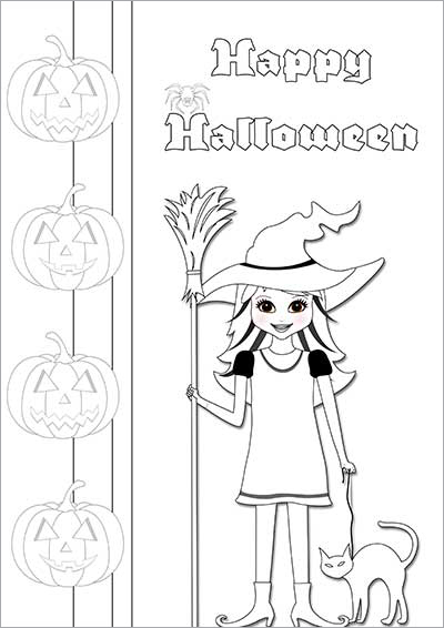 Witches & Cats Color Card 004