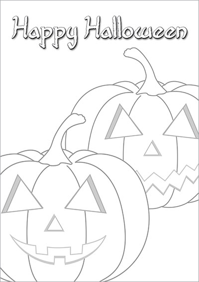Halloween Pumpkin Color Card 012