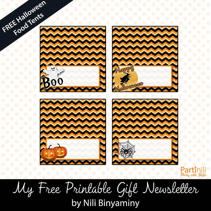FREE Printable Halloween Place/Food Tents Cards