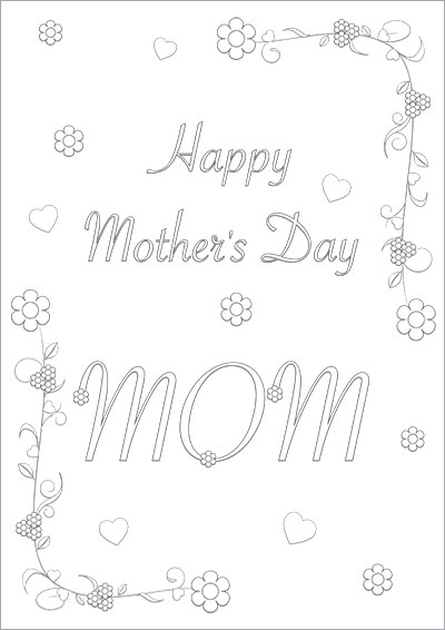 Floral Mother's Day Mom Color Card 003