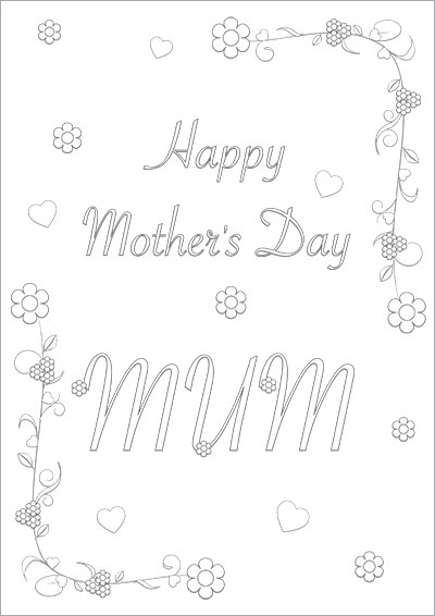 Floral Mother's Day Mum Color Card 004