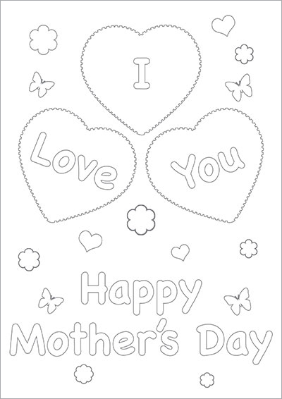 I Love You Mom Color Card 005