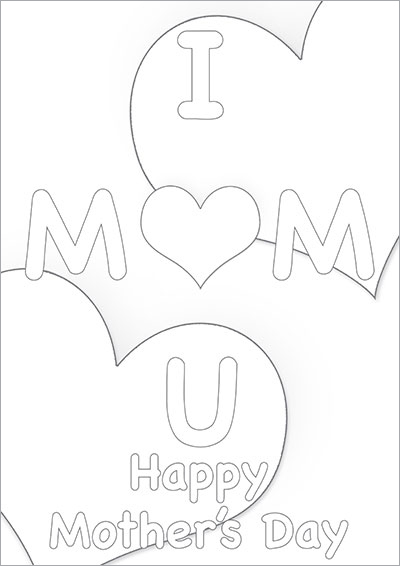I Heart You Mom Color Card 008