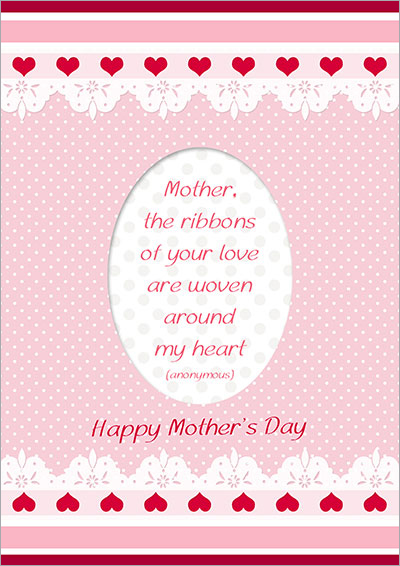 Lovely Pink Mother's Day Card 010