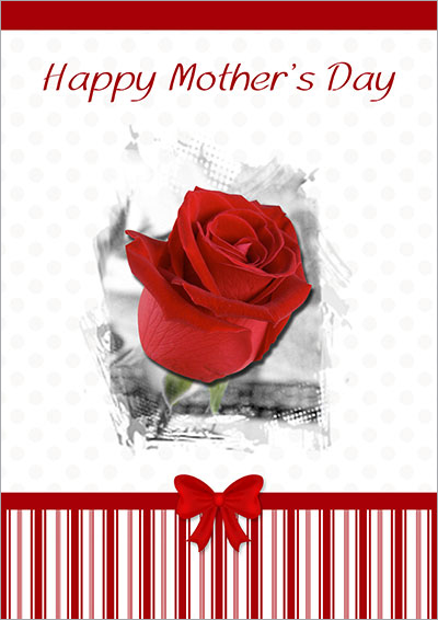 Single Red Rose For Your Mom 016