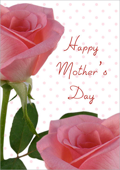 Mother's Day Pink Roses Card 021
