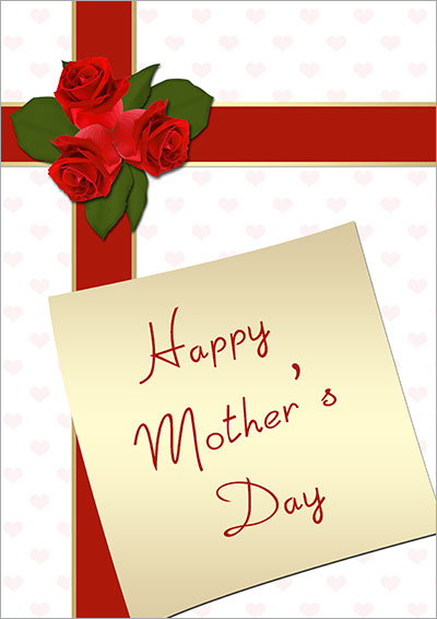 Red Gift Wrap For Special Mom 024