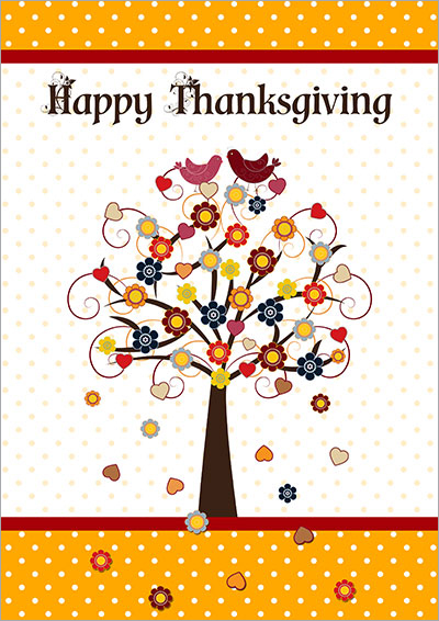 Printable thanksgiving cards happy thanksgiving tree cards 001 happy thanksgiving tree m4hsunfo