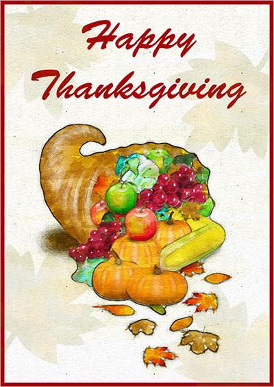 Thanksgiving Feast Card 004