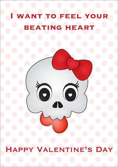 Taste Your Beating Heart Gothic Card 001
