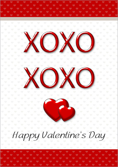 XOXO Valentine's Day Card 009