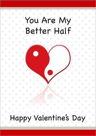 You Are My Better Half Card 013