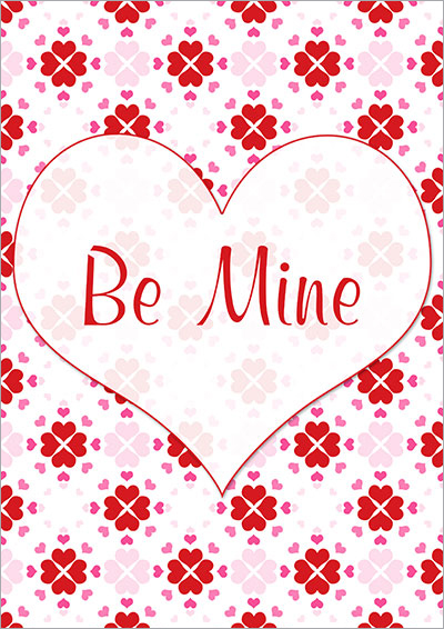 Be Mine Valentine's Day Card 016