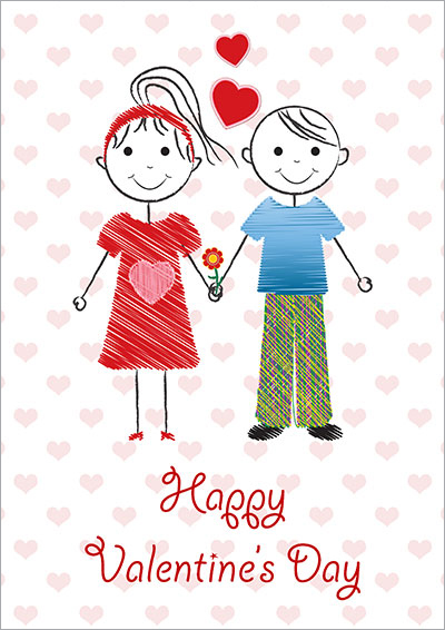 Happy Valentine's Day Kids Card 021
