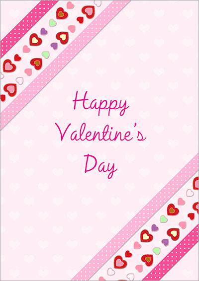 A Pink Valentine Printable Card 023