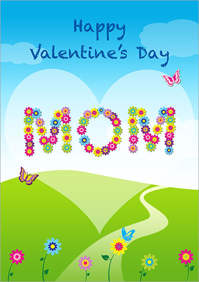 Happy Valentine's Day Mom Card 032