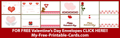 FREE Printable Valentine's Day Envelopes