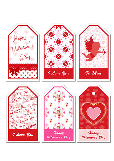 Printable valentine cards free printable valentines day gift tags negle Image collections