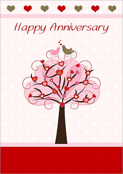 Anniversary Love Tree Card  003